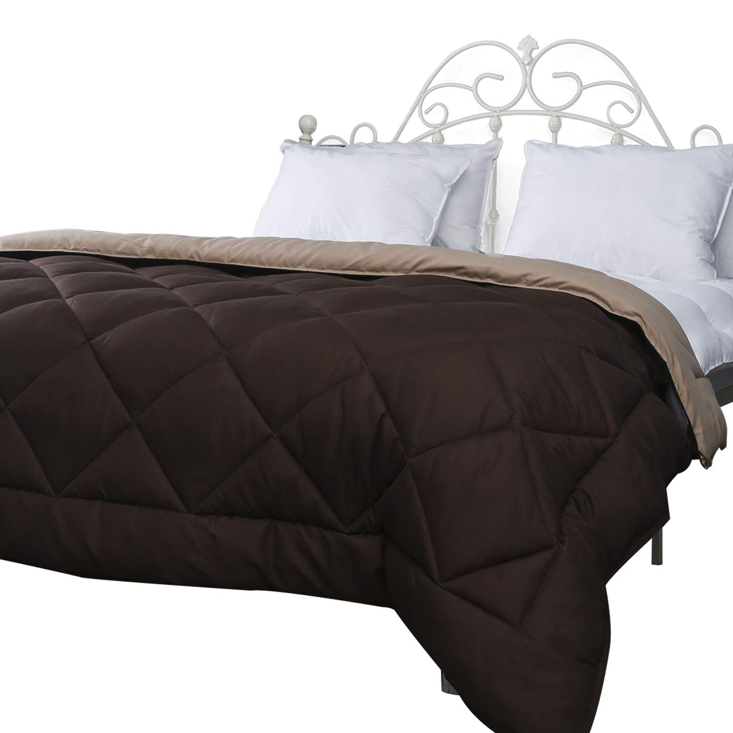 Naluka King Size Comforter,Ultra Plush Super-Soft Lightweight All Season Down Alternative Hotel Collection Solid Comforter