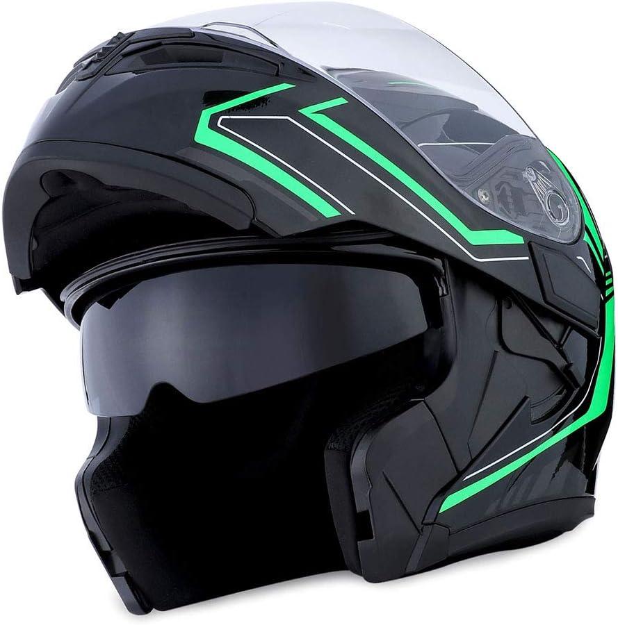 HB89 Arrow Red 1Storm Motorcycle Modular Full Face Helmet Flip up Dual Visor Sun Shield