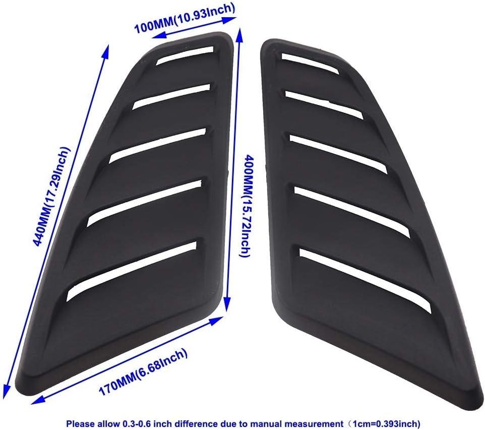 Nuevo 2X Frontal de Aire del Coche de la Cucharada del Capo Campana de ventilaci/ón Las Rejillas de ventilaci/ón de la Cubierta for BMW E90 E91 E92 E93 M3 pl/ástico ABS Salida de Aire for M3 Real Modelo