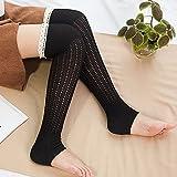 Spring Fever Crochet Lace Trim Cotton Knit Leg
