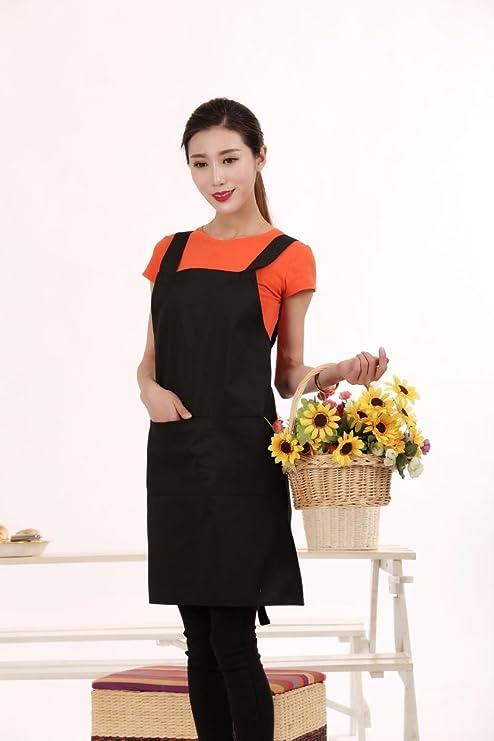 Amazon.com: xiurong delantal traje, esteticista, esteticista ...