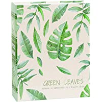 Photo Album 4x6 inch, 100 Pockets Picture, Green Leaves Natural Style Tree, Green