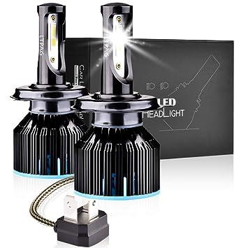 Bombilla H4 LED Coche, LTPAG 2pcs 72W Lampara H4 LED 12V/36V Luces LED