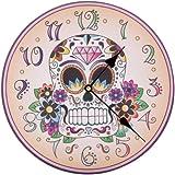 Lauren Billingham Day of the Dead Skull Picture Clock