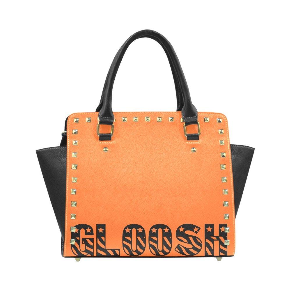 d6c4c8e43 Amazon.com: InterestPrint Custom Rivet Shoulder Handbags Gloosh Bold  Leather Bag Rivet Shoulder Bag For Women: Clothing