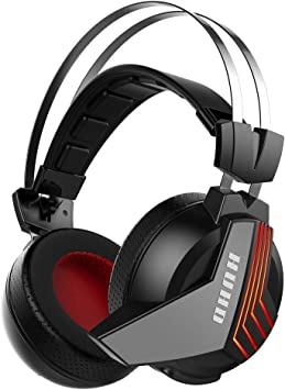 Amazon Com Huhd Usb Wireless Gaming Headset For Ps4 Pc Computer Nintendo Switch 3 5mm Wired Stereo Gaming Headphones For Xbox One Mic Mute Computers Accessories
