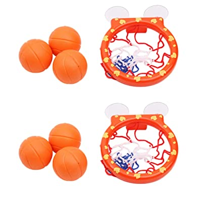 Garneck 2 Sets Bath Toy Basketball Hoop Bathtub Office Balls Playset with Strong Suction Cup for Child Gift (Basketball Hoops, Balls): Health & Personal Care