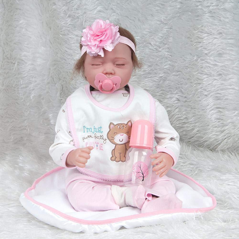 Hongge Reborn Baby Doll,Muñeca Reborn Realista Parece de Juguete Regalo Real Reborn muñeca de 55cm