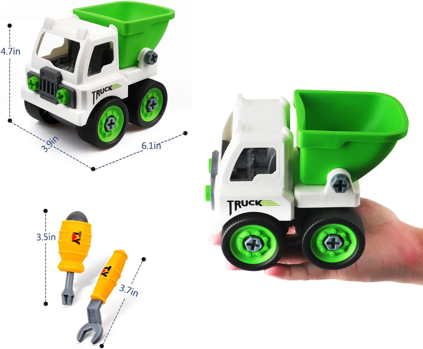 Building Toys for Kids Ages 4-8,Tipper Digger Toys for Boys Age 6 Excavator Construction Toys for 3 Year Old boy Gifts Trucks for 3 Year Old Boys Birthday Gift for 3-10 Year Old Girls Yellow