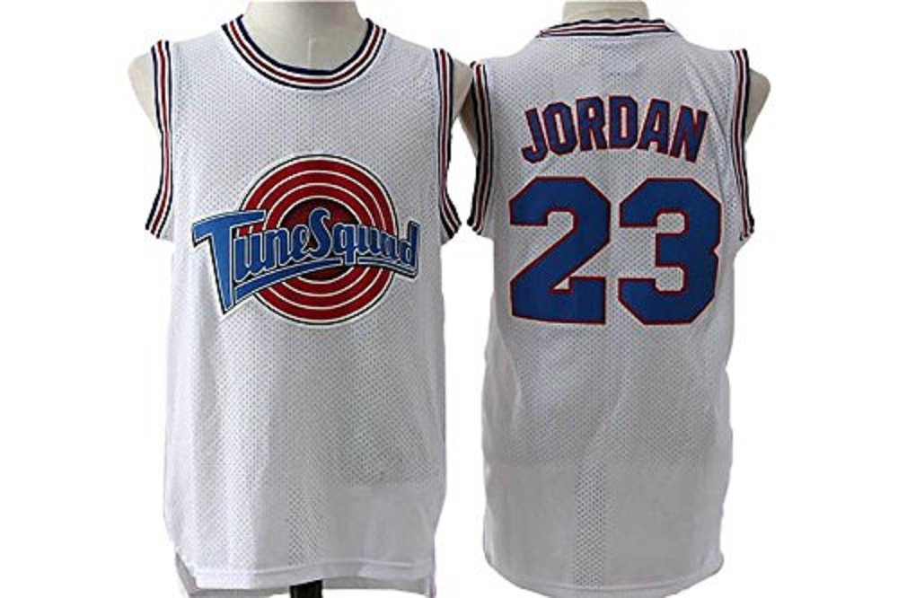 f02e4c976aeaf9 David Christmas Deal movie YOUTH KIDS Space Jam No. 23 Jersey mesh  embroidery trapeze sports basketball clothing trade White Unknown Binding