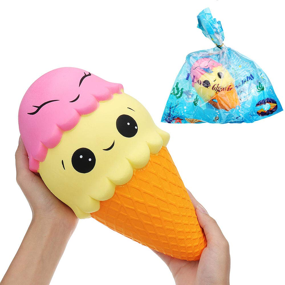 11.8inch 3015CM Huge Squishy Ice Cream Cone Slow Rising with Packaging Collection Gift Soft Toy by Unknown