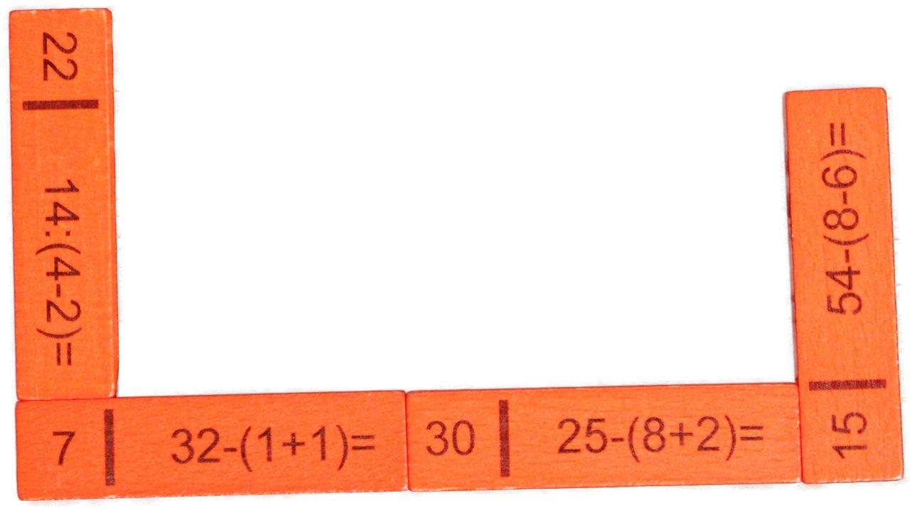 Rechendomino III 40 Teile , 20 x 16 x 3 cm NEU Rechenspiel Mathe lernen Denkspiel
