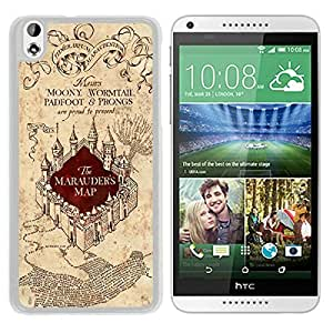 Fashionable Harry Potter Marauders Map HTC Desire 816 Case in White