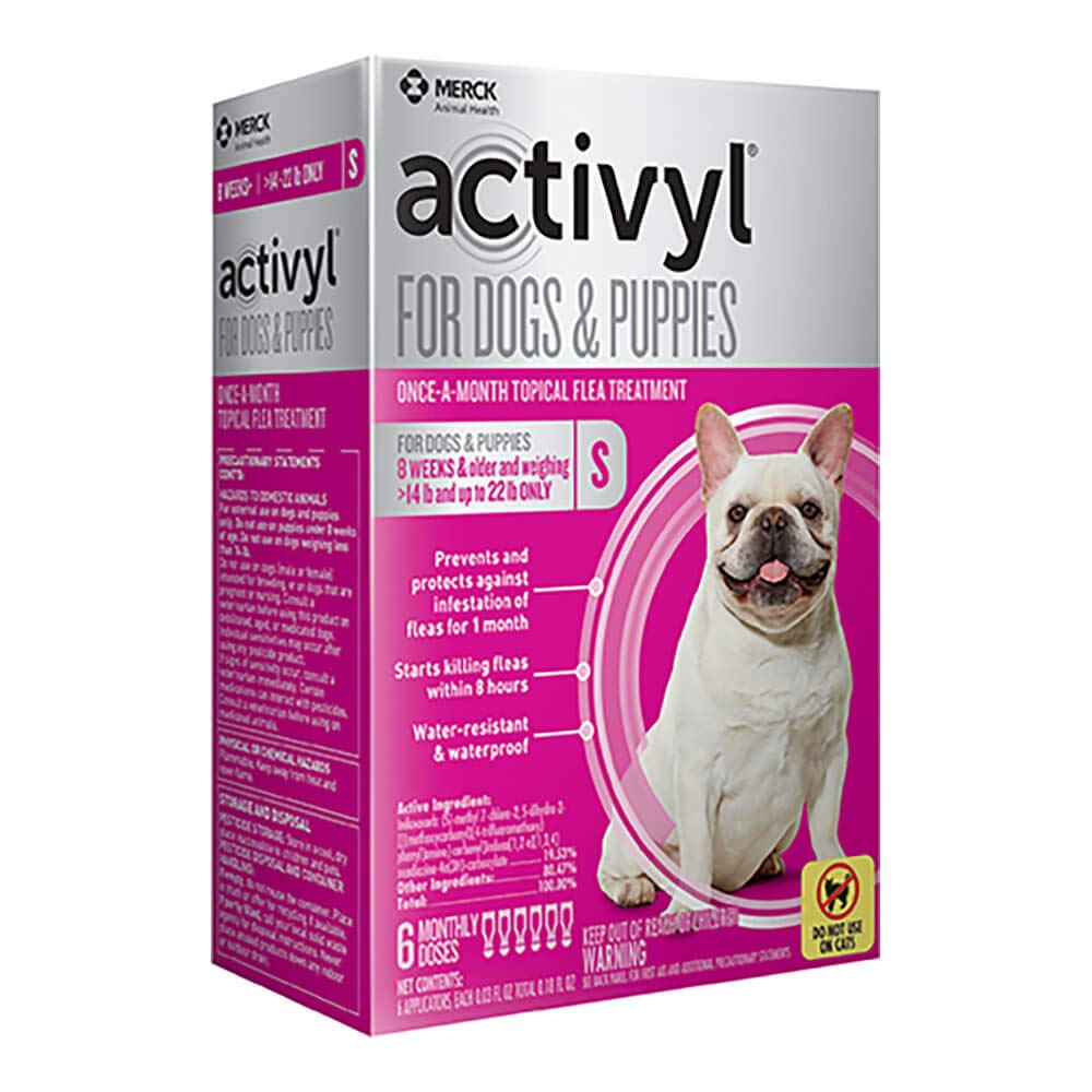 Activyl Small Dogs & Puppies 15-22lbs, 6-pack by Activyl