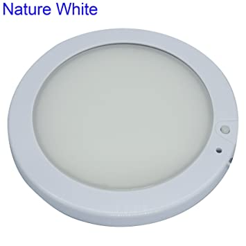 Facon 5inch 12v led rv panel ceiling dome light fixture with facon 5inch 12v led rv panel ceiling dome light fixture with dimmer for rv motorhome camper mozeypictures Choice Image