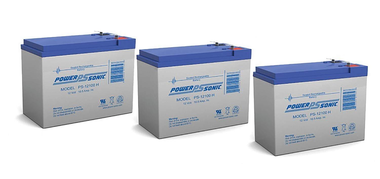 Powersonic 12V 10.5AH Replacement BB BP10-12 BPAK24005 CFM12V10-3 Pack