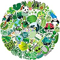 Green Series Stickers (70 PCS) Cute Stickers for Laptop, Hydro Flask,Water Bottle,Skateboard Phone - Aesthetic Stickers - Stickers for Teens, Adults, Kids - Sticker Pack - Vinly Waterproof