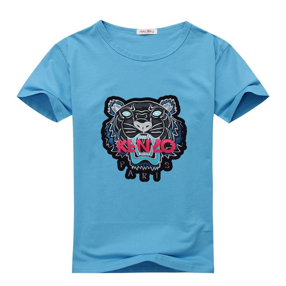 290197a3 Amazon.com: Kenzo Tiger Head Embroidered For 2016 Mens Printed Short Sleeve  tops t shirts: Clothing