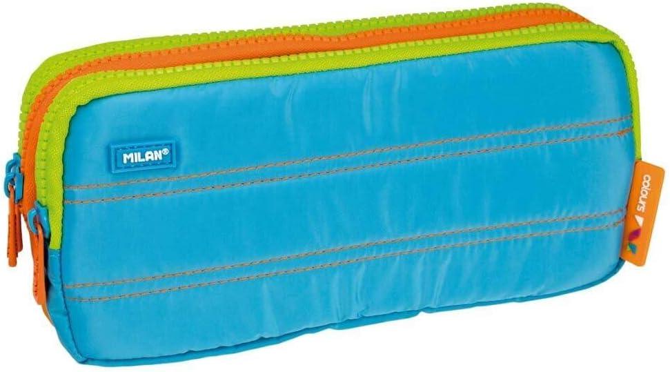 Portatodo Triple Milan Colours Blue: Amazon.es: Oficina y papelería