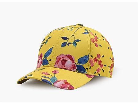 Yizhu Moda Amarillo Diseño de Flores Gorras de Béisbol 3D Impreso ...