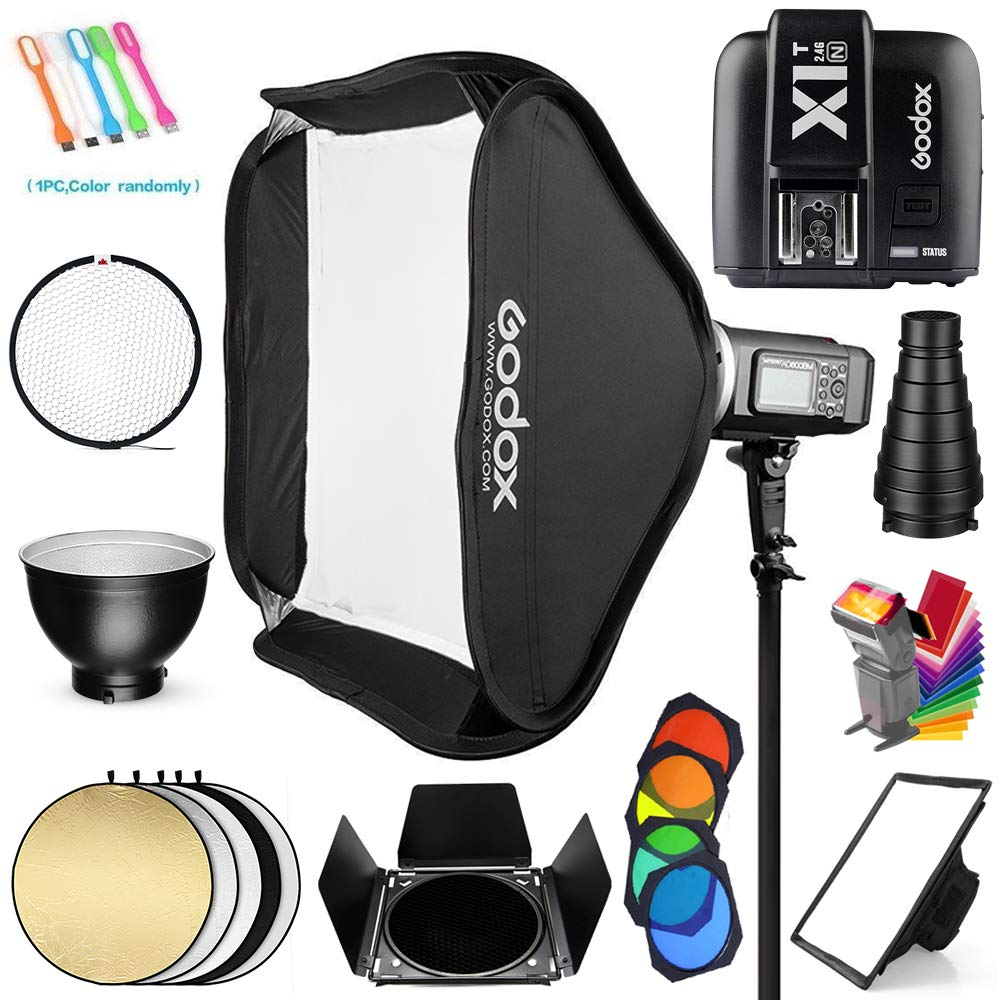 Godox AD600BM Bowens Mount 600Ws GN87 1/8000s HSS Outdoor Flash Strobe Studio Monolight with X1T-N Wireless Trigger Transmitter Compatible for Nikon Cameras &32x32inch Softbox&Standard Reflector&Snoot by Godox (Image #2)