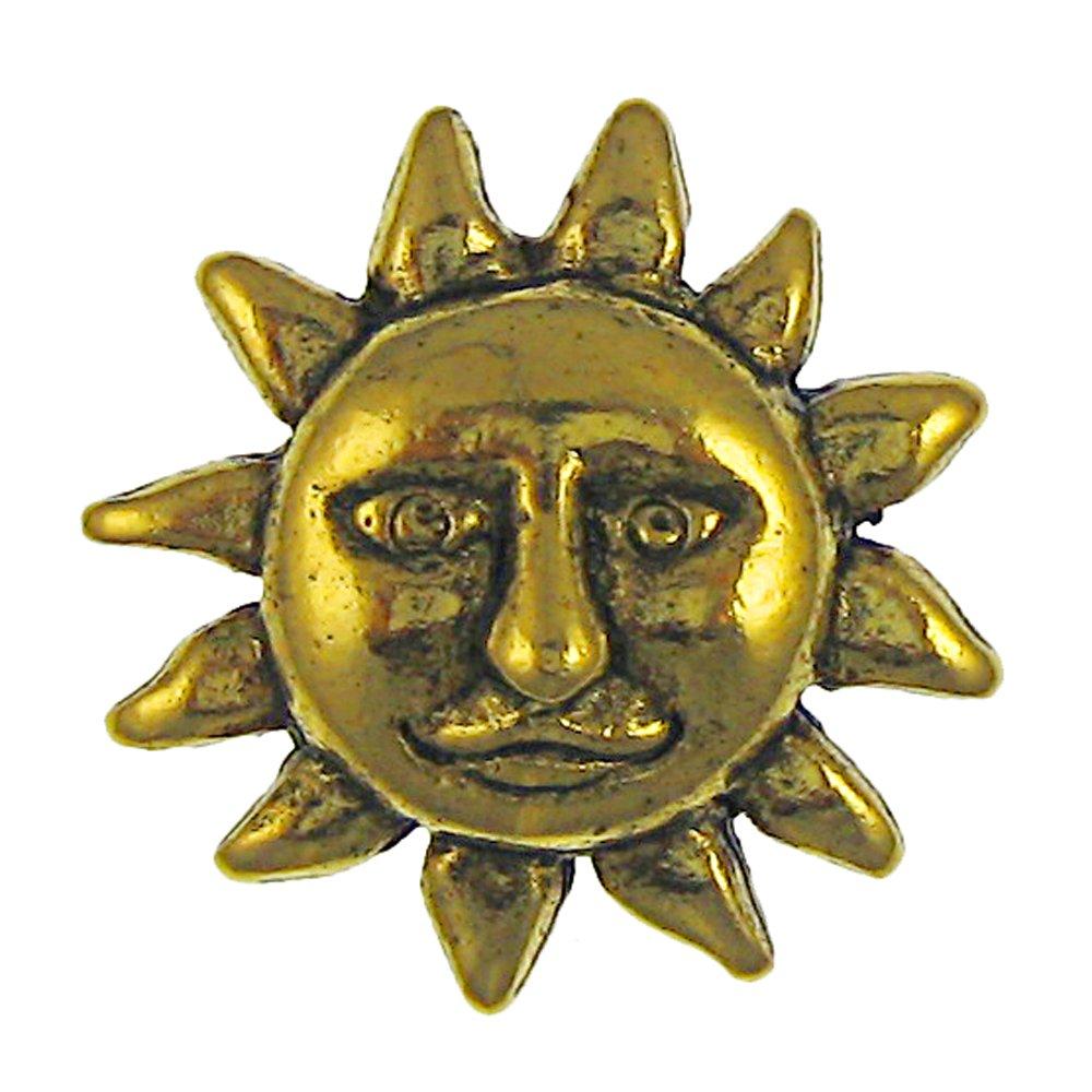 Sun Face Gold Lapel Pin- 100 Count