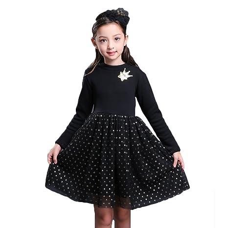 Vestidos para Bebé Niñas - Princesa Largos Vestido de Encaje Elegante Ropa de Fiesta/Noche