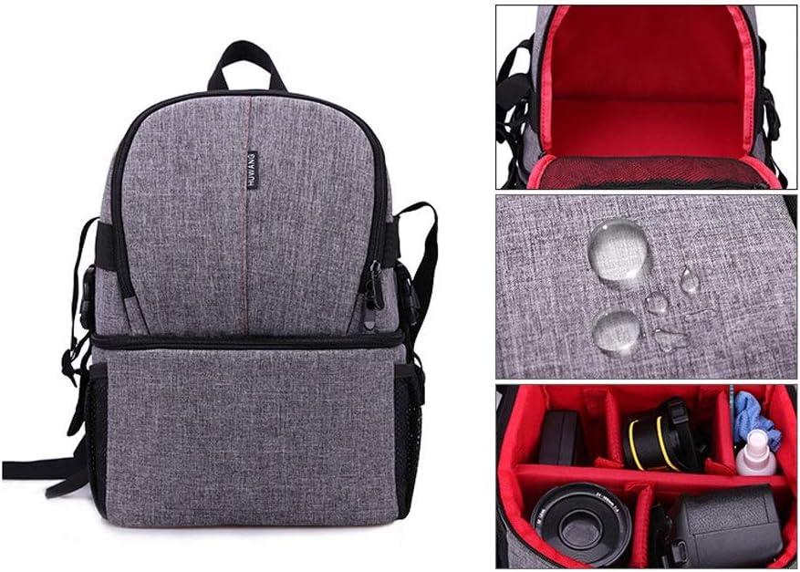 Outdoor Camera Backpack Bag for DSLR//SLR Camera Bag Waterproof Camera Case Backpack for Canon Nikon Camera and Lens Tripod Accessories Color : Orange