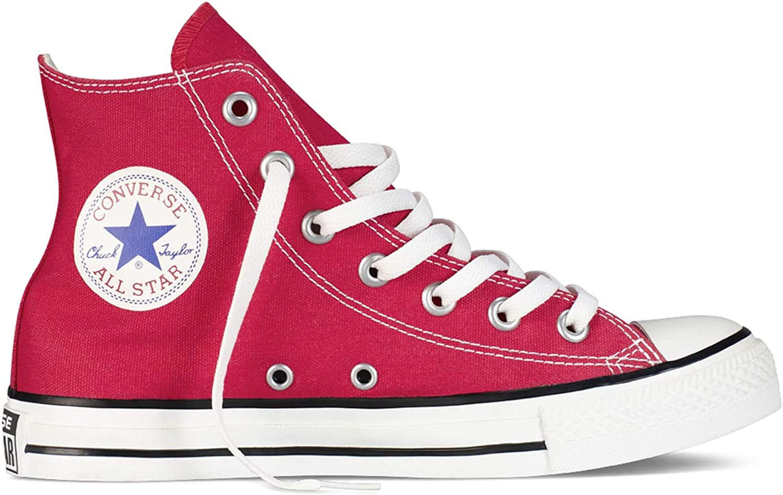 Converse Chuck Taylor All Star High Classic CTAS Hi - Zapatillas altas de lona, unisex, con pegatina de 7 km/h