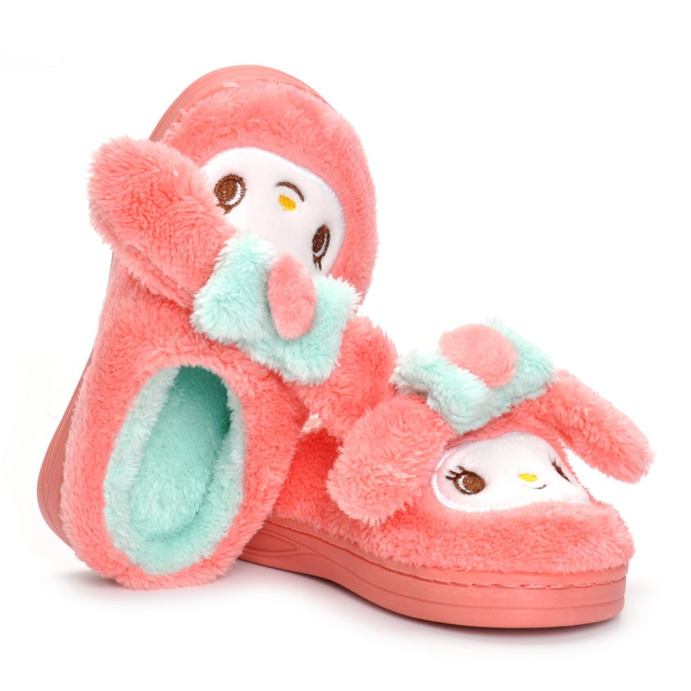 Toddler Girls Pink Bunny Slippers Children Cartoon Cute Rabbit Winter Warm Plush Fur Shoes by Matt Keely (Image #3)