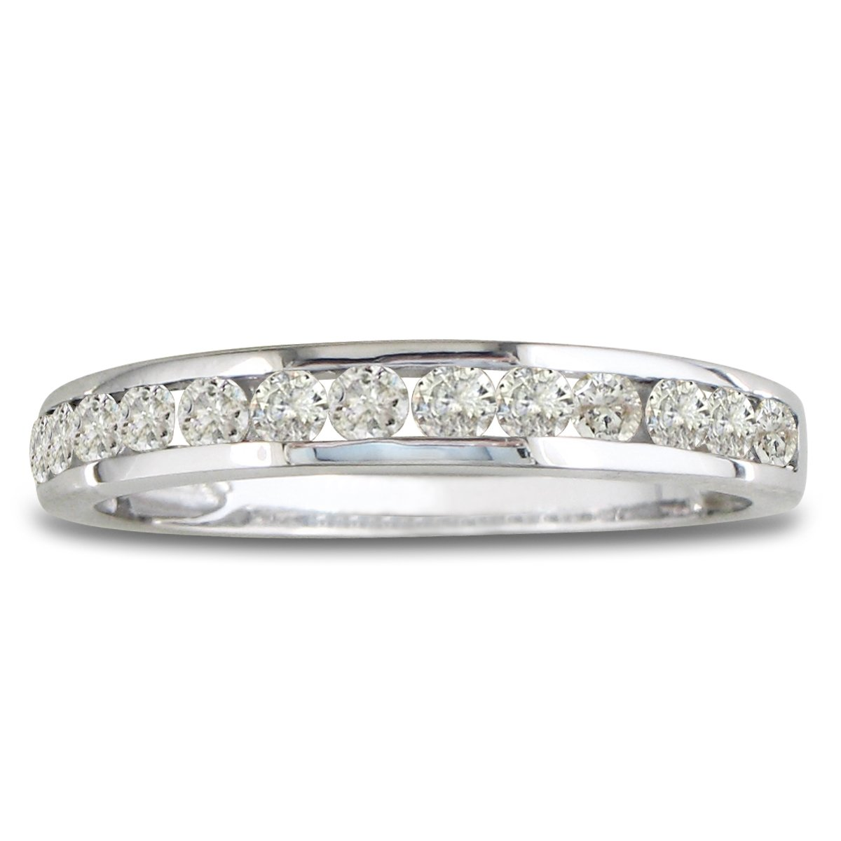 10K White Gold Round Diamond Anniversary Wedding Band Ring (1/4cttw) With Fre... SuperJeweler H069826 10W JK I2 SZ8