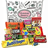 American Candy Box Hamper of American Sweets and Chocolate | Reeses, Jolly Rancher, Jelly Belly, Nerds | 13 Items in a Retro Sweets Gift Box