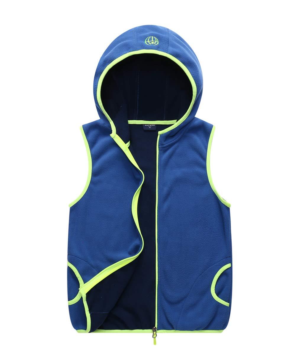 M2C Boys Hooded Full Zip Polar Fleece Vest Blue 6/7