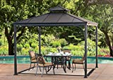 Sunjoy Harper Gazebo, Large, Black For Sale