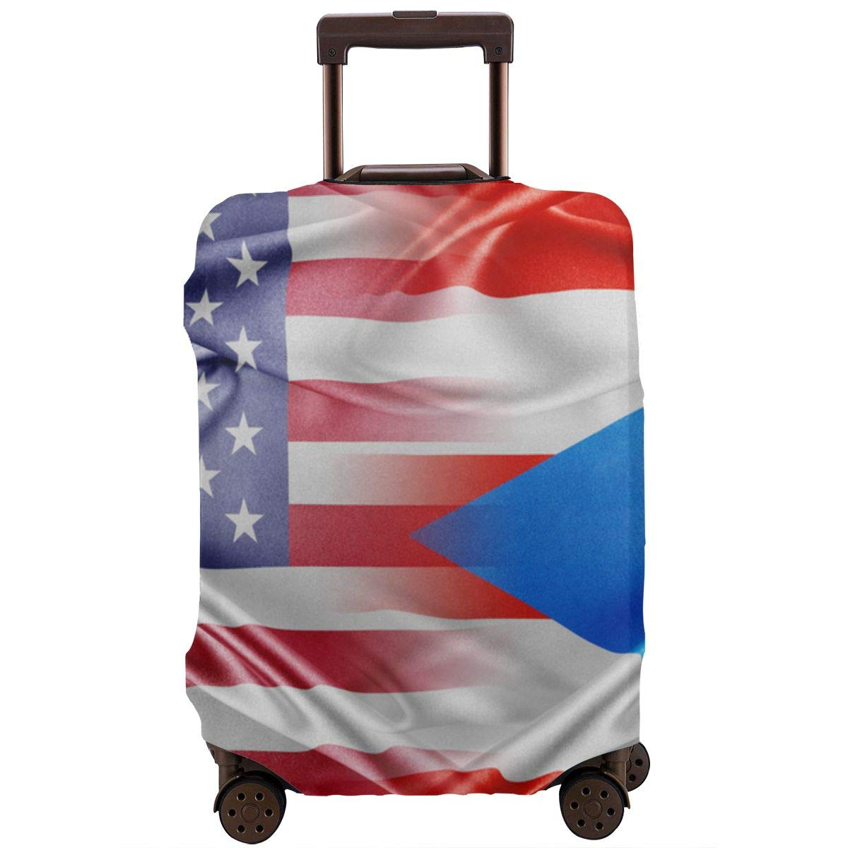 USA and Puerto Rico Travel Luggage Cover Suitcase Protector Fits for 18-32 Inch Luggage Conceptual Image XL Relations Between Two Countries