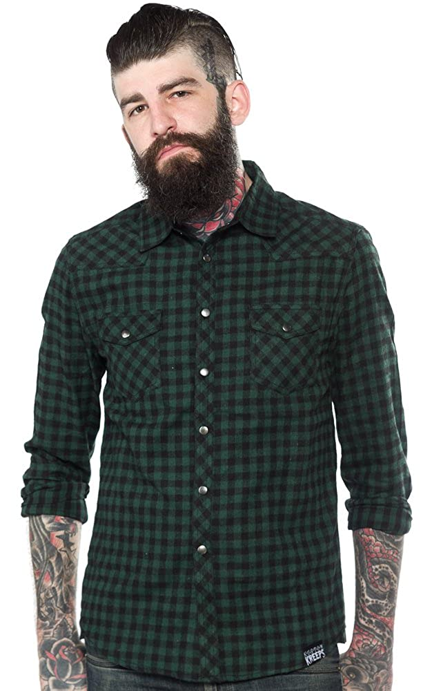 Kustom Kreeps Western Shirt Green