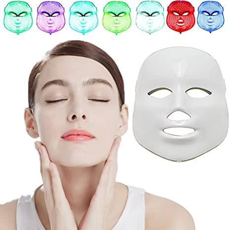 Silaite [New Version 2018] Whitening Daily Skin Care Facial Beauty Mask, 7 Color LED Mask Photon Light Skin Rejuvenation,NEWEST LED Photon ...