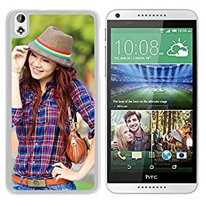 New Beautiful Custom Designed Cover Case For HTC Desire 816 With Smile Girl (2) Phone Case