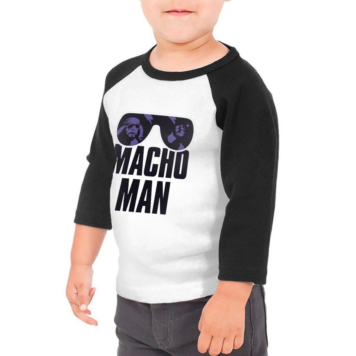 yimo Macho Man Unisex Toddler Baseball Jersey Contrast 3//4 Sleeves Tee
