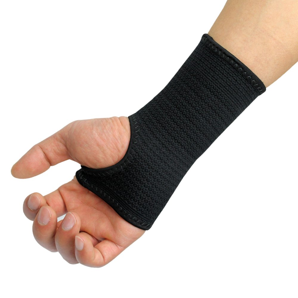Kuangmi Compression Wrist Support Sleeve Palm Hand Brace Carpal Tunnel (Medium (Pack of 2))