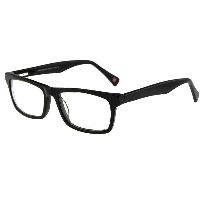 Amazon.com: Jimmy naranja rectangular lentes marco non ...
