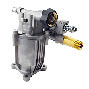 "WISETON STORE OEM Pressure Washer Replacement Pump Horizontal Shaft 2800PSI 2.5GPM, Cold Water Gasoline Pressure Power Washer Pump 3/4"" Shaft M22 Connectors Brass Head for Most Brand"