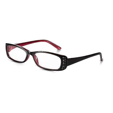 6232a2935d Read Optics Gafas de Mujer de Lectura Vista Negras y Rojas con Brillantes -  Vintage con