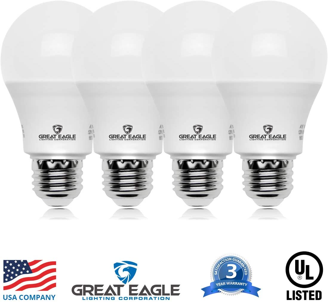 Best Non-Dimmable LED Light: Great Eagle LED A19 Light Bulb