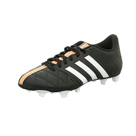 00e9c57f1 Adidas 11Questra Mens Football Boots FG Leather Soccer Boots Firm Ground  Black White UK Sizes 6-11New B34124 (UK9.5  44 F)  Amazon.co.uk  Sports    Outdoors
