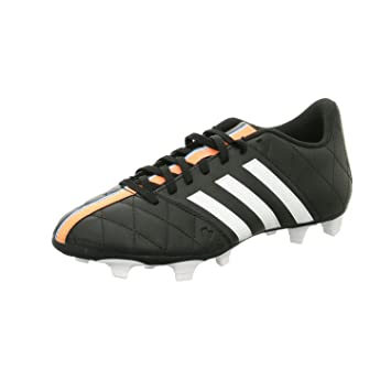 eb264d8321b Adidas 11Questra Mens Football Boots FG Leather Soccer Boots Firm Ground  Black White UK Sizes 6-11New B34124 (UK9.5  44 F)  Amazon.co.uk  Sports    Outdoors