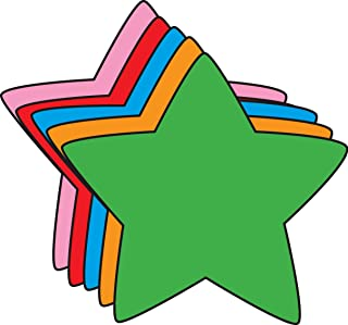 """product image for 5.5"""" Star Assorted Color Creative Cut-Outs, 31 Cut-Outs in a Pack for Star Inspired Classroom/School Craft Projects."""