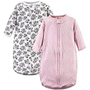 Hudson Baby Baby Long Sleeve Cotton Safe Wearable Sleeping Bag, Toile, One Size