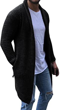 Men/'s Winter Long Sleeve Slim Knitted Cardigan Warm Sweater Jumper Jacket Coat