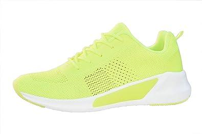 LUCKY STEP Women Neon Yellow Lime Green